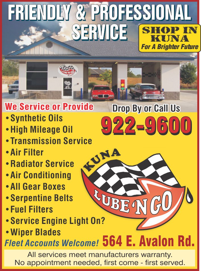 Lube N Go >> Auto Lube Service Kuna Connections